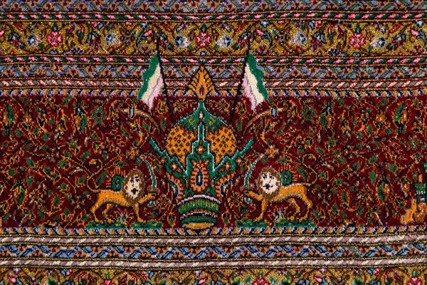 Qom Handknoted Silk Rug-5312