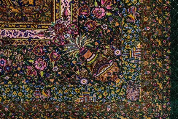 Qom Handknoted Silk Rug-1277