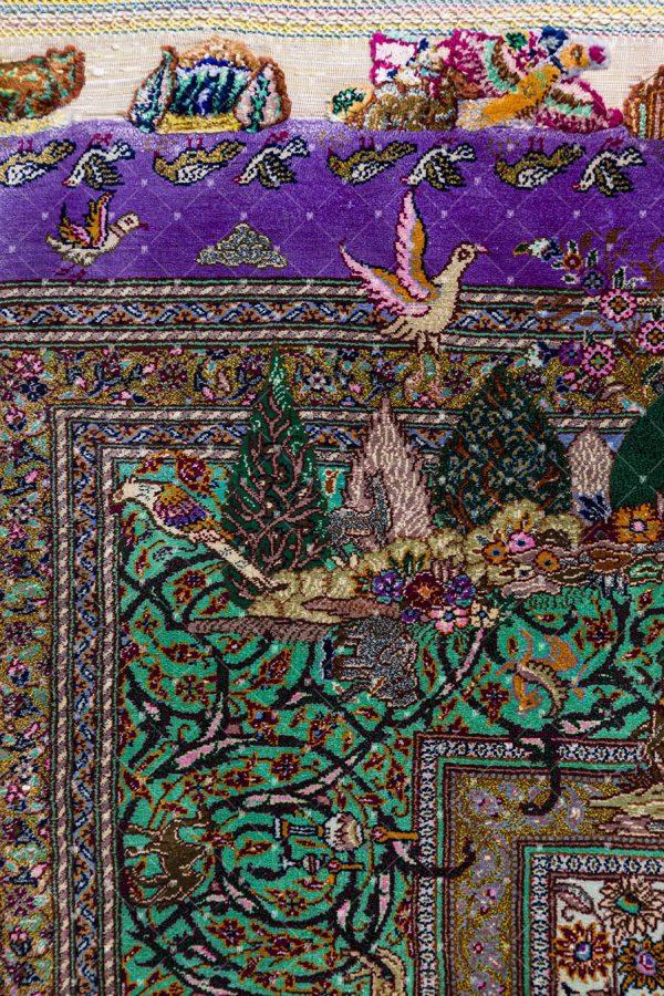 Qom Handknoted Silk Rug