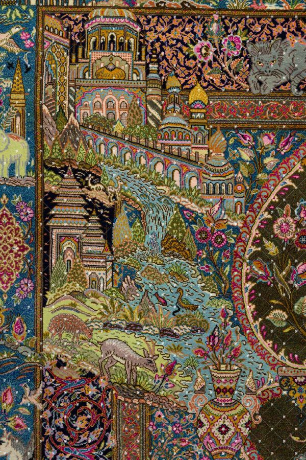 Qom Hand knotted Rug ZN1368486733